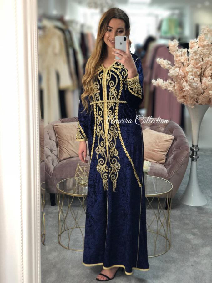 اخر مستجدات القفطان المغربي بثوب الموبرة