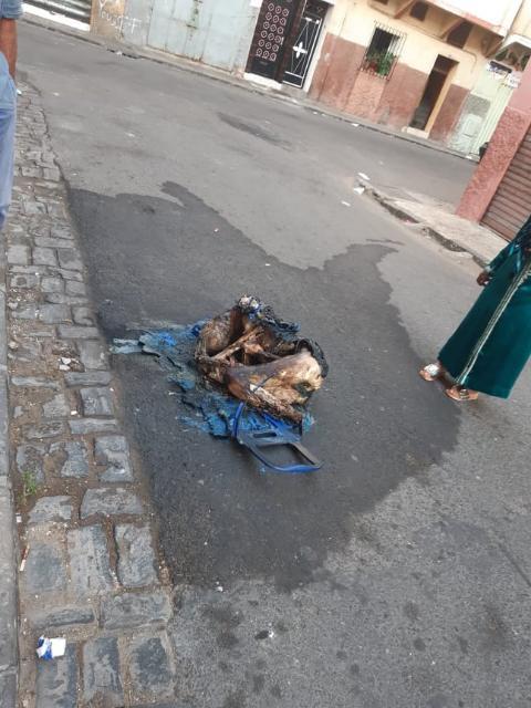 صورةوفيديو:استنفار أمني بحي درب السلطان بعد العثور على جثة امراة مكبلة و متفحمة