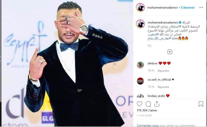 بعد نجاح أغنيته رفقة سعد المجرد محمد رمضان يحل بمراكش لتصوير كليب أغنيته الجديدة (صورة)