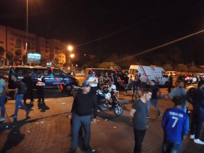 لحظة دخول سيارة اسباني مخمور في مطعم بمراكش مخلفة خسائر بشرية و مادية فادحة
