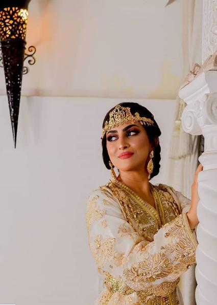 بالصور:امينة كرم تشعل الانستغرام باطلالة العروس