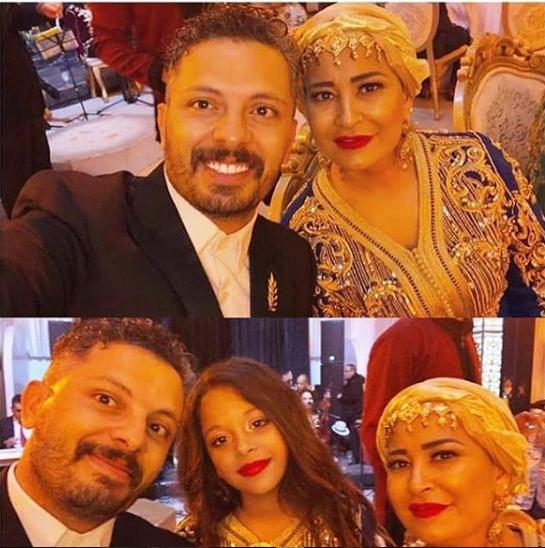 زوجة حاتم عمور تخطف الانظار بالقفطان المغربي والتوربان