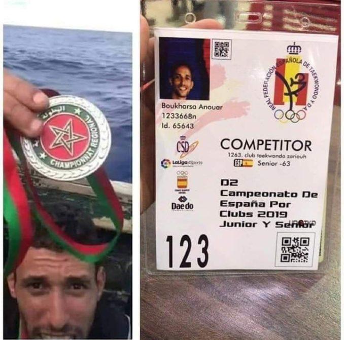 بعد شهرين من ركوبه قارب الموت.. البطل المغربي أنور يشارك في بطولة إسبانية (صورة )
