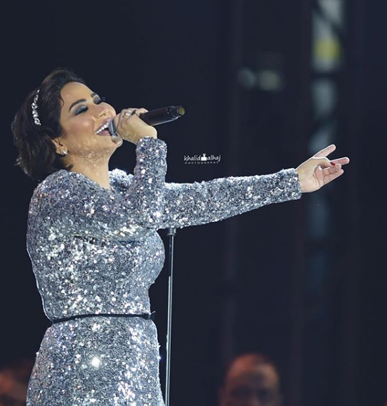 شرين عبد الوهاب تطل بزيادة وزن واضحة بسبب تناولها للكورتيزون