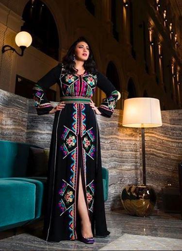أحدث وأجمل إطلالات الفنانة أسماء المنور بالقفطان المغربي