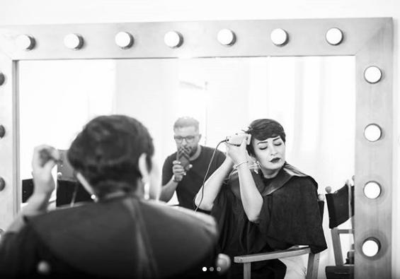 زوجة حاتم عمور تنشر صورها وهي تحلق شعرها في اليوم العالمي للسرطان
