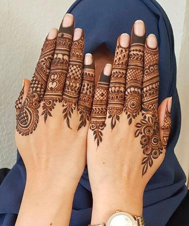 نقش حناء عصري للعيد