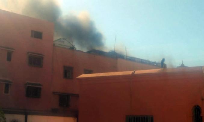 شارجور يتسبب في حريق مهول بمدينة مراكش