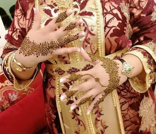 نقش فاسي راقي وجميل لمحبات الحناء