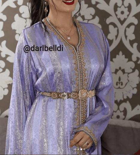 تشكيلة راقية من القفطان المغربي بثوب جوهرة