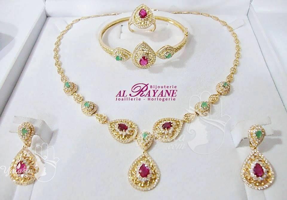 45262aca736ac بالصور   أطقم من مجوهرات مغربية أنيقة من الذهب المرصع