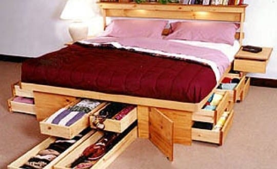غرف نوم : أفكار تخزين و حلول ذكية لديكور غرف النوم الصغيرة   موقع