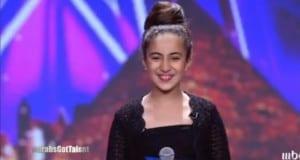 الطفلة المغربية هبة تبهر حكام Arabs Got Talent