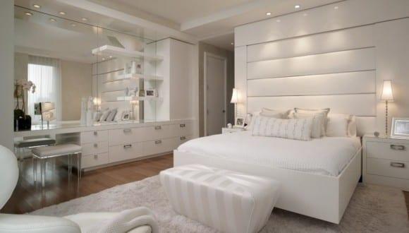تصاميم غرف النوم البيضاء   موقع يا لالة