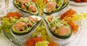سلطة الأفوكادو والجمبري Salade avocat et crevettes
