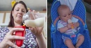 أم تقدم حليب الرضاعة كمثلجات لطفلها في مواجهة الحرّ