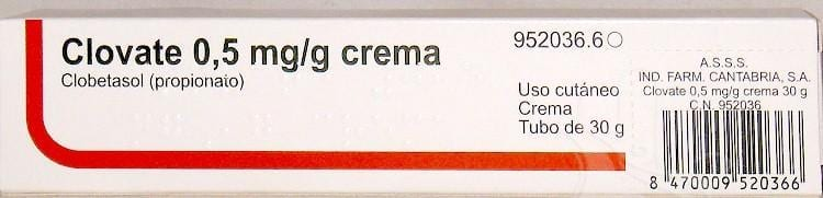 clovate 0.5mg/g crema