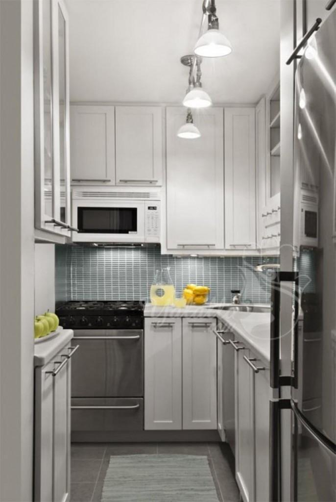 تصاميم مطابخ أنيقة للمنازل الصغيرة   (11)