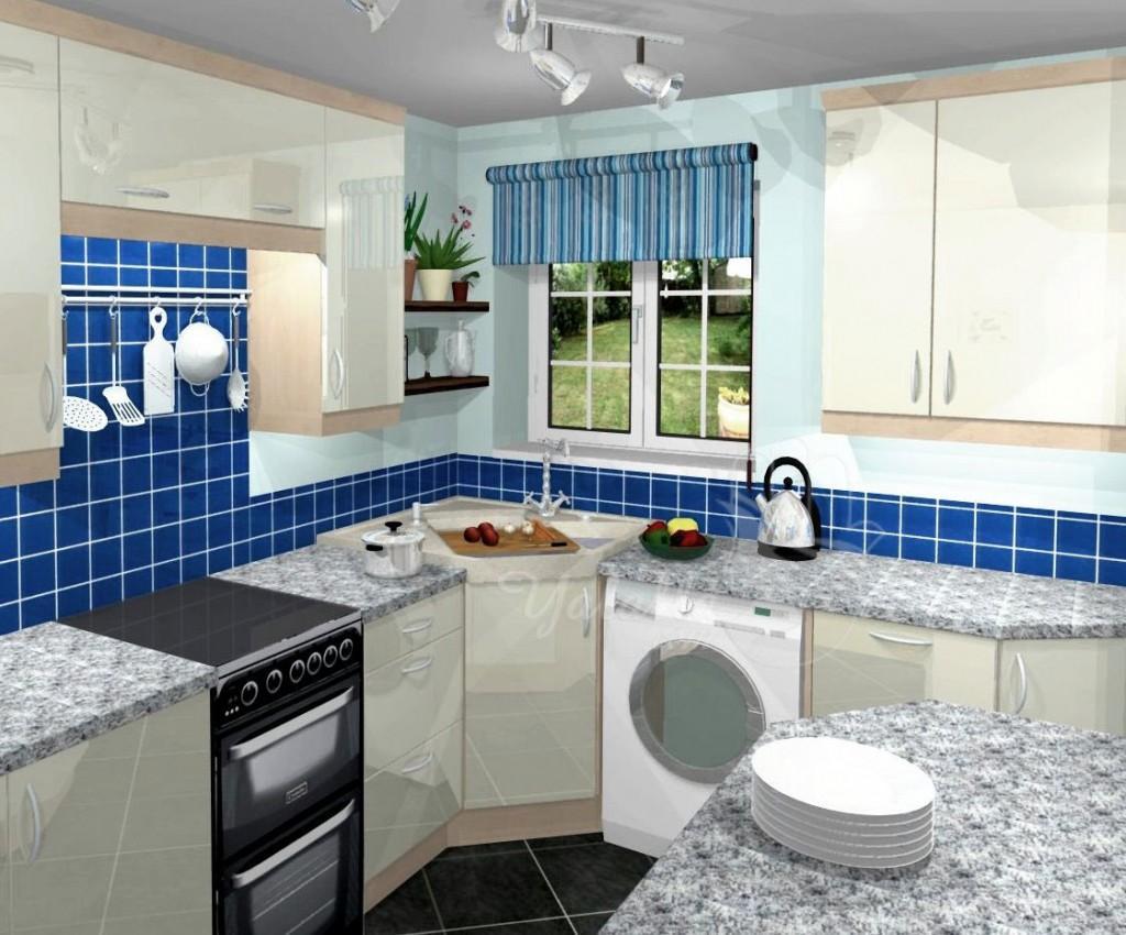 تصاميم مطابخ أنيقة للمنازل الصغيرة   (3)