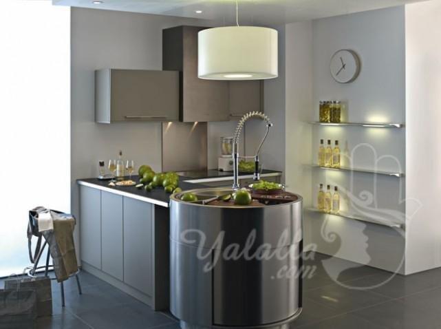 تصاميم مطابخ أنيقة للمنازل الصغيرة   (5)