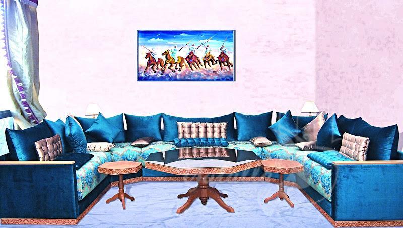 Salon Marocain Bleu Turquoise – Obasinc.com