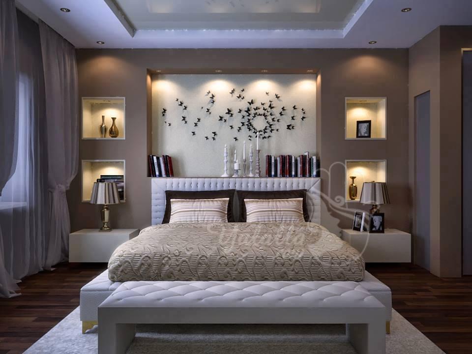 غرف نوم بحلة بيضاء واضاءة رومانسية.ياسلاااام   موقع يا لالة