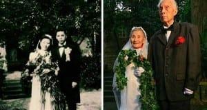 زوجان صينيان يلتقطان نفس صورة زفافهما بعد مرور 70 سنة عليه