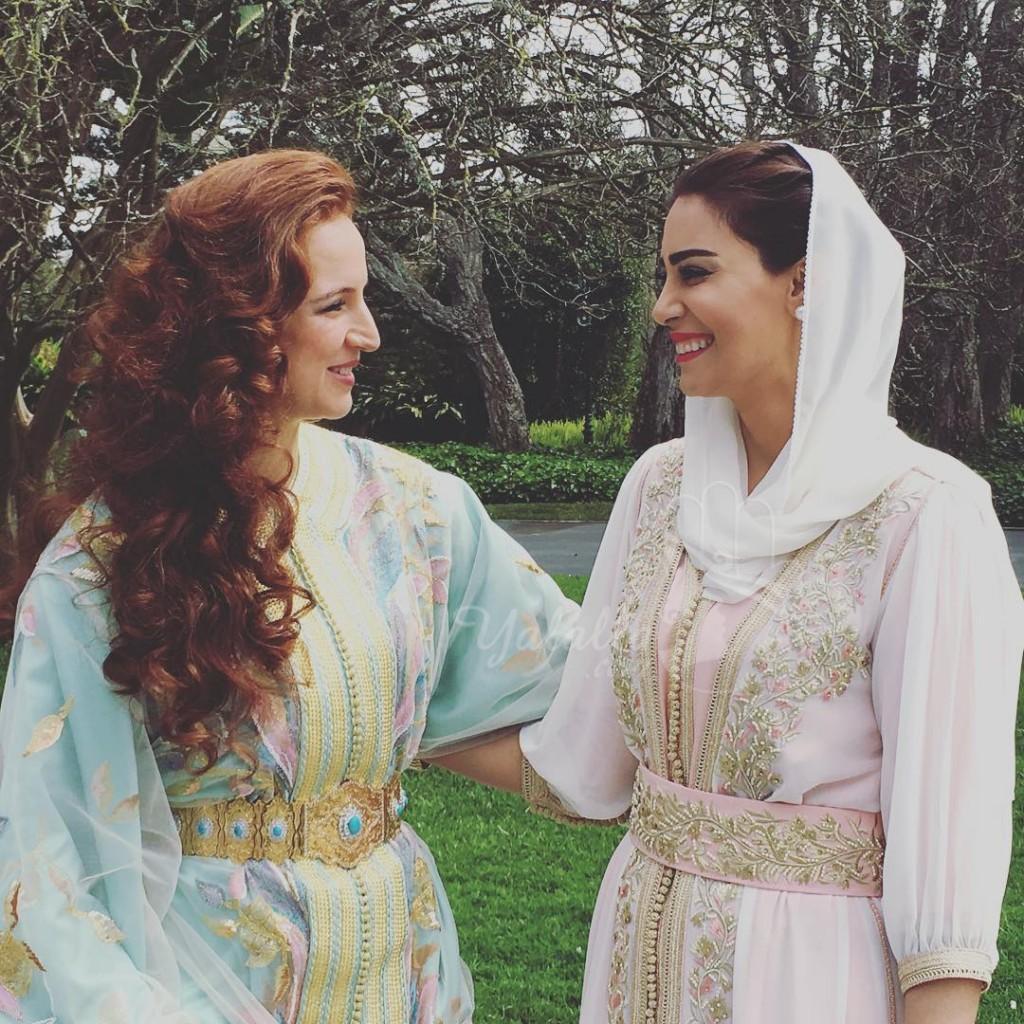 الإعلامية البحرينية ندى الشيباني تنشر صورة لها مع الأميرة للا سلمى