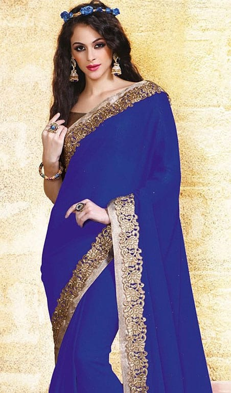 Indian Georgette Sarees-Kaufen billigIndian Georgette