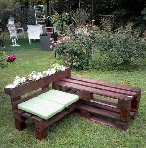 On muebles de jardin reciclados