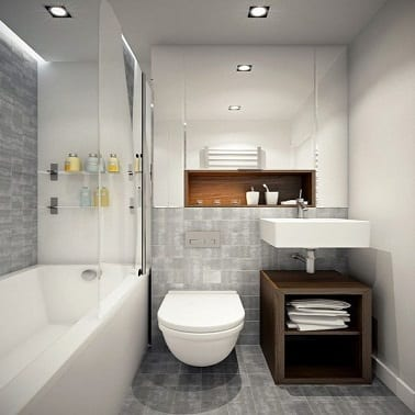 for Salle de bain 4m2 avec wc