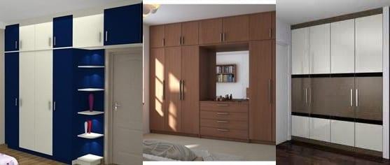 اخر صيحات الدواليب لغرف النوم العصرية.بديكورات بسيطة و ألوان