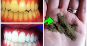 ضعي هذا المسحوق في فمك دقيقتين فقط ولن تصدقي.. ستبيض أسنانك وتزيل الإصفرار نهائيا