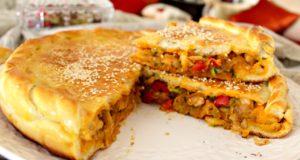 فطيرة محشوة او خبز محشو لذيذة جدا وسهلة التحضير