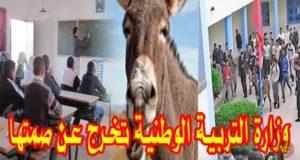 بالفيديو..حمار داخل ثانوية ببرشيد يثير استنكار المغاربة عبر مواقع التواصل الإجتماعي