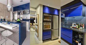 الى عشاق اللون الأزرق:مطابخ عصرية اخر طراز بدواليب عملية و مريحة