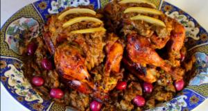 دجاج محمر بالدغميرة بأبسط طريقة للمبتدئات بلا قوة المقادير ناجح وألذ من دجاج الأعراس