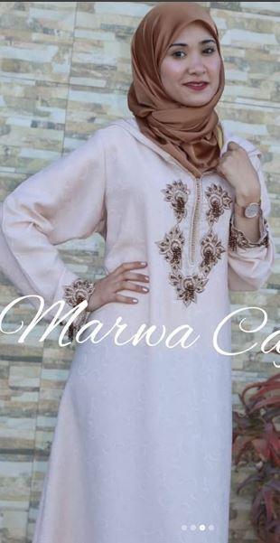 تشكيلة جديدة ورائعة من جلابة العيد عند caftan-marwa