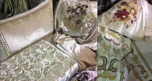 تشكيلة جديدة وراقية من ثوب الموبرة المطرز لصالون عصري بألوان جذابة..