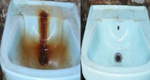 السائل السحري العجييييب كينظف جميييع البقع والصدا..شوفو النتيجة بعينيكم