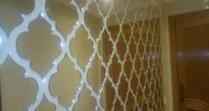 موديلات رااائعة لتغليف الحائط او السقف بديكورات زجاجية راقية مع الأثمنة