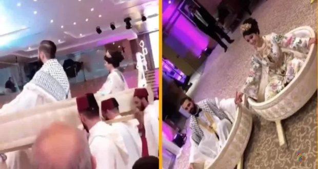 بالفيديو..حفل زفاف مغربية بفلسطيني يلهب مواقع التواصل الاجتماعي