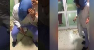 عاجل...ممرضة بمستشفى تاونات تتلقى ضربة عنيفة على رأسها من احدى المواطنات