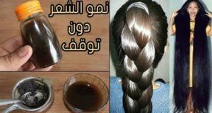 ستلاحظين طول شعرك في اليوم السابع..أقوى وصفة لتغذية الشعر من الجذور