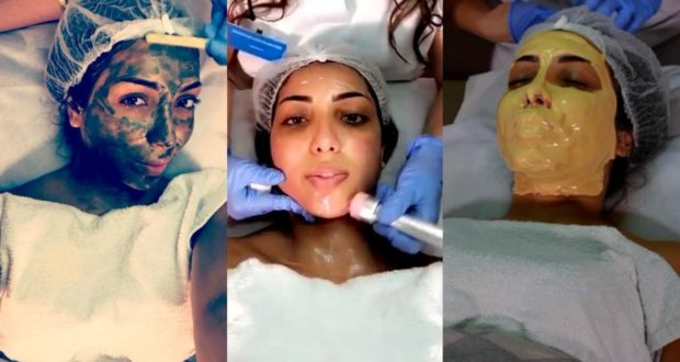 شاهدوا كيف تعتني دنيا بطمة ببشرتها لأول مرة في مركز تجميلي مغربي