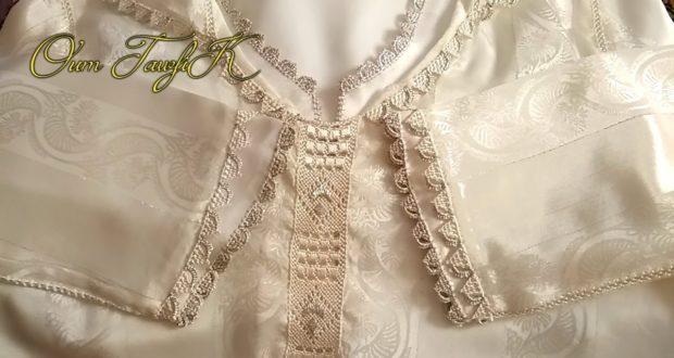 جلابة بالقميص للعيد براندة خفيفة على ثوب الجوهرة