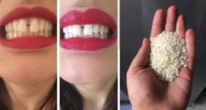 هذه الحبيبات البيضاء ستجعل أسنانك مثل اللؤلؤ ..قولي وداعا للإصفرار والكالكير