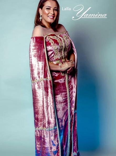 سميرة البلوي تتالق بموديلات جديدة من القفطان المغربي اخر طراز