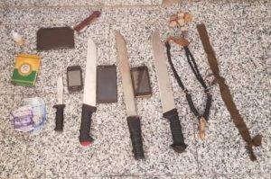 أولى صور أدوات الجريمة النكراء التي استعملها القاتلون في تصفية الضحيتين