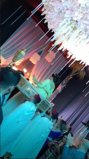 الصور الاولى من زفاف الفنانة المغربية نجاة الرجوي من شقيق فنانة مغربية مشهورة!!